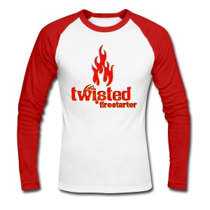 Twisted Firestarter - Men's Long Sleeve Baseball T-Shirt