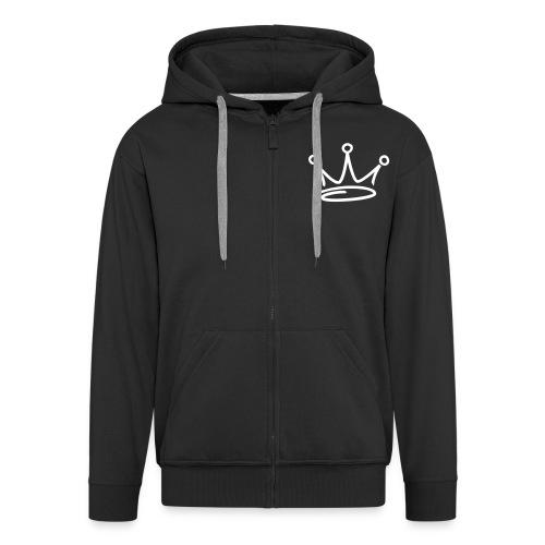 BUSY WHITE ZIP HOODY - Men's Premium Hooded Jacket