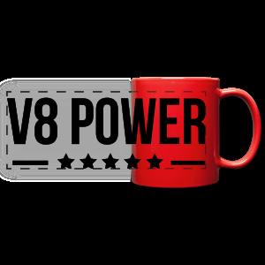 Mok V8 power - Panoramamok gekleurd
