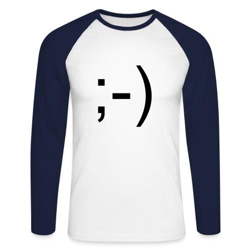 ;-) - Männer Baseballshirt langarm