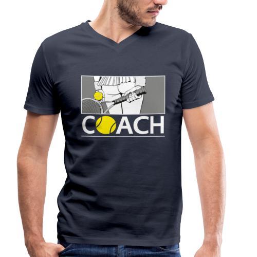 Tennis Coach - Männer Bio-T-Shirt mit V-Ausschnitt von Stanley & Stella
