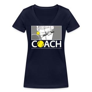 Tennis Coach - Frauen Bio-T-Shirt mit V-Ausschnitt von Stanley & Stella