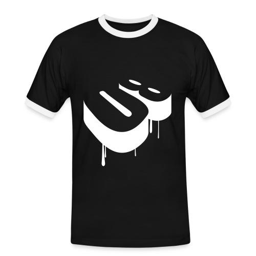 T-Shirt Schwarz-weiss/weiss - Männer Kontrast-T-Shirt