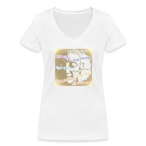 Eightfold Path (multicolour) - Women's Organic V-Neck T-Shirt by Stanley & Stella