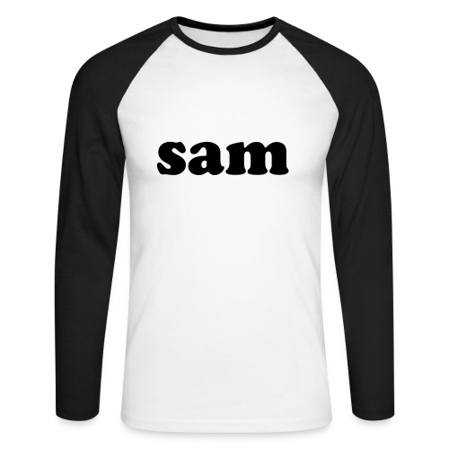 sam T-Shirt white/b - Men's Long Sleeve Baseball T-Shirt