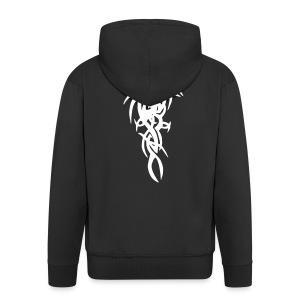 Black Jt's Hooded Jacket With Tribal Design - Men's Premium Hooded Jacket