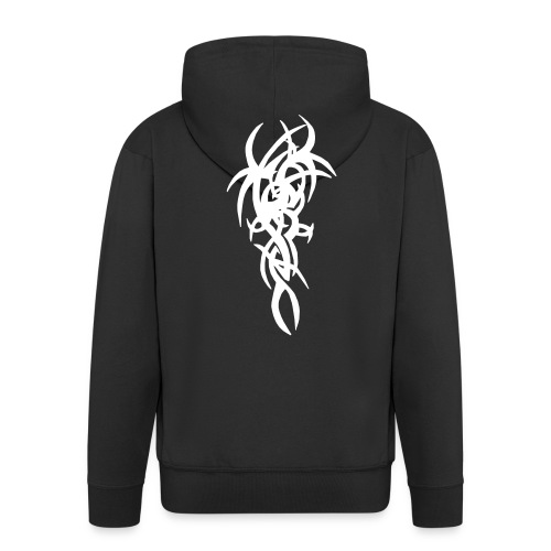 Black Jt's Hooded Jacket With Tribal Design - Men's Premium Hooded Jacket