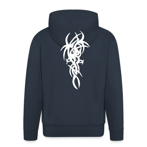 Navy Jt's Hooded Jacket With Tribal Design - Men's Premium Hooded Jacket