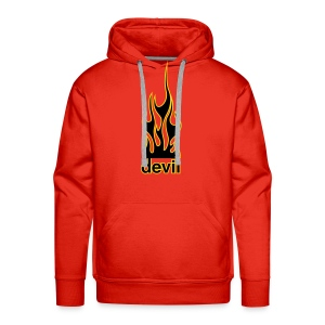 Hooded Sweat With Devil Design - Men's Premium Hoodie