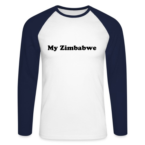 my zim T-shirt male blue - Men's Long Sleeve Baseball T-Shirt