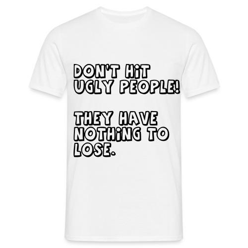 T-skjorte med motiv(Don't hit) - T-skjorte for menn