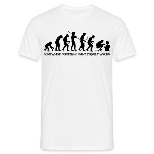 T-skjorte med motiv(evolution) - T-skjorte for menn