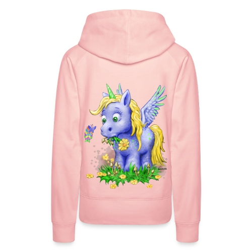 Unicorn on Mushrooms (kapuze/girl) - Frauen Premium Hoodie