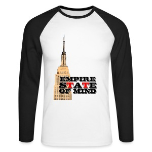 Empire State of Mind - Men's Long Sleeve Baseball T-Shirt