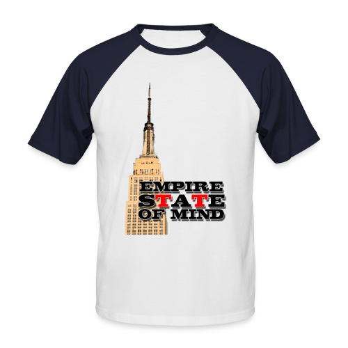 Empire State of Mind - Men's Baseball T-Shirt