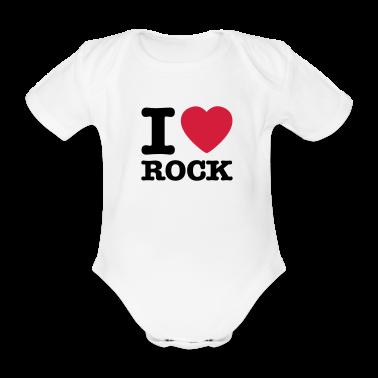 Bianco i love rock / I heart rock Body neonato