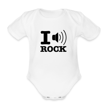White i music rock / I love rock Baby Bodysuits