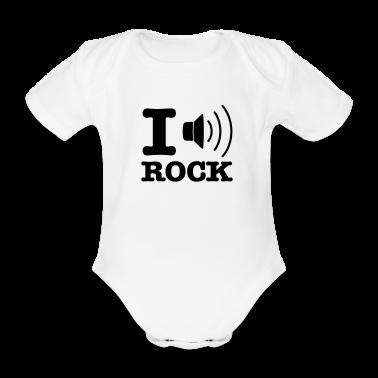 Bianco i music rock / I love rock Body neonato