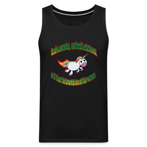 Crush your unicorn - Men's Premium Tank Top