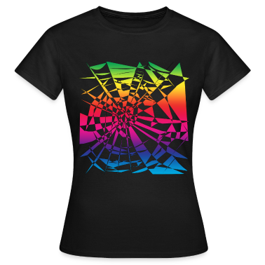 Black rainbow cobweb Women's T-Shirts