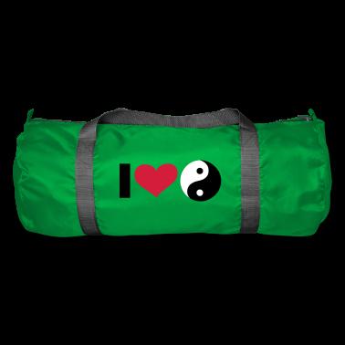 Smaragdgrün iI LOVE Yin and Yang / ☯ - eushirt.com Taschen