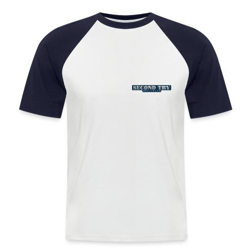 Baseball-Shirt Second Try B.B. ws/navy kurzarm - Männer Baseball-T-Shirt