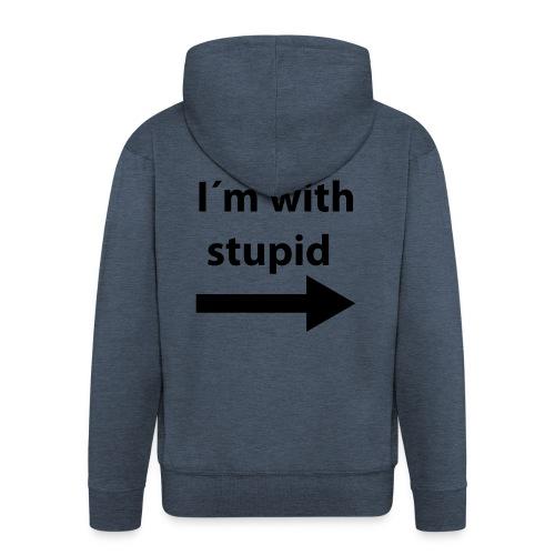 im with stupid - Premium Hettejakke for menn