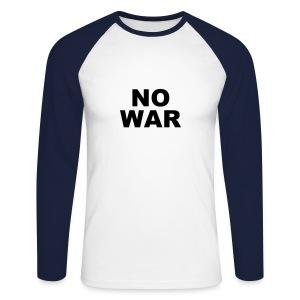 Punk No War - Men's Long Sleeve Baseball T-Shirt