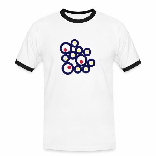 Shirt Ringe - Männer Kontrast-T-Shirt