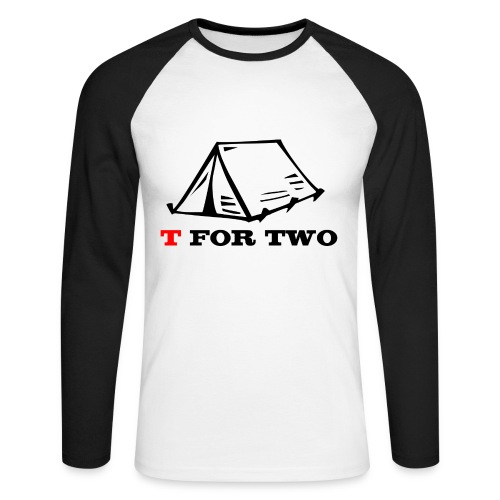 T for Two - Men's Long Sleeve Baseball T-Shirt