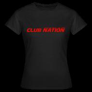 T-Shirts ~ Women's T-Shirt ~ Club Nation Womens Black