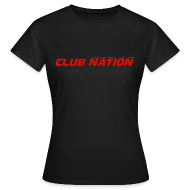 T-Shirts ~ Women's T-Shirt ~ Club Nation Womens Black