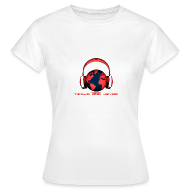 T-Shirts ~ Women's T-Shirt ~ Tezija & Keyra Womens Headphones