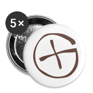 Buttons & Anstecker ~ Buttons klein 25 mm ~ Button -  Geocaching - braun