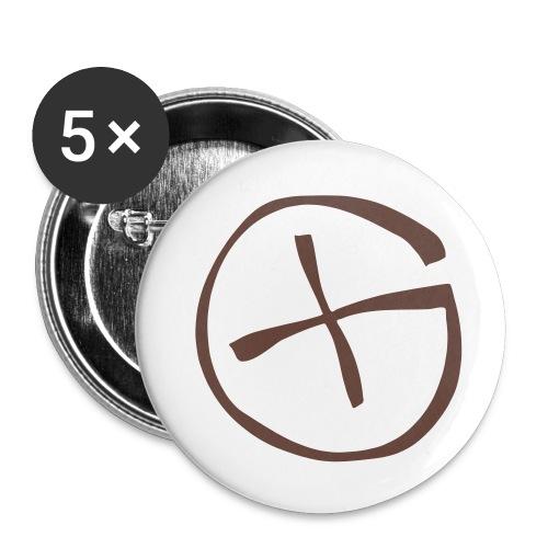 Button -  Geocaching - braun  - Buttons klein 25 mm