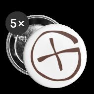 Buttons & Anstecker ~ Buttons groß 56 mm ~ Button 56 mm -  Geocaching - braun