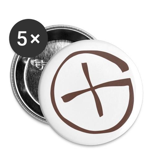 Button 56 mm -  Geocaching - braun  - Buttons groß 56 mm
