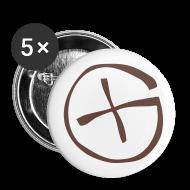 Buttons & Anstecker ~ Buttons mittel 32 mm ~ Button 32  mm -  Geocaching - braun