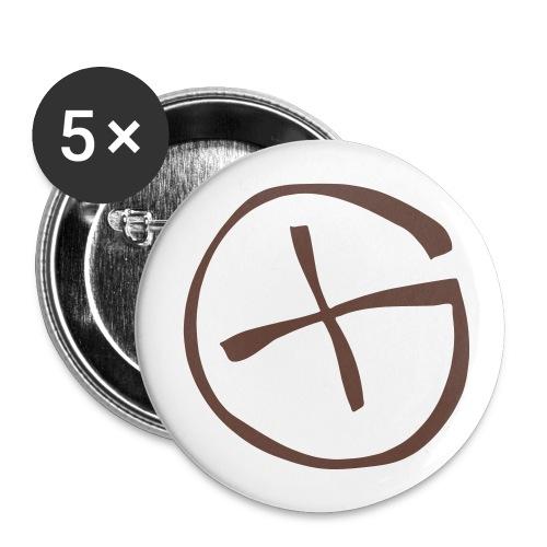 Button 32  mm -  Geocaching - braun  - Buttons mittel 32 mm