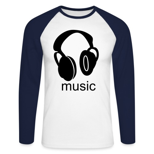 sound+your personal message - Men's Long Sleeve Baseball T-Shirt