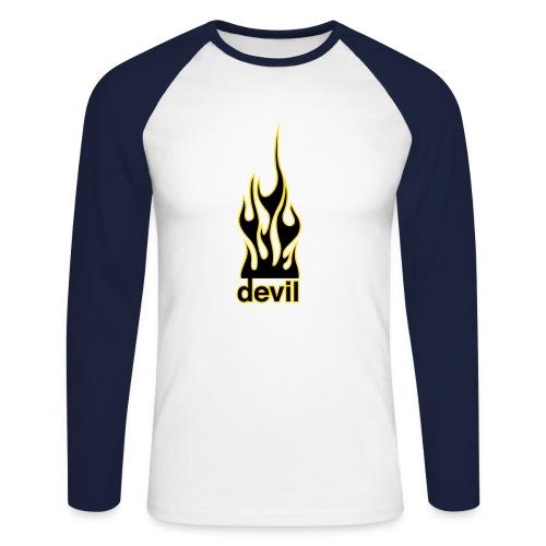 el diablo top - Men's Long Sleeve Baseball T-Shirt
