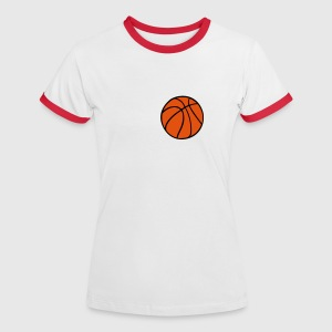 Basketball - Frauen Kontrast-T-Shirt