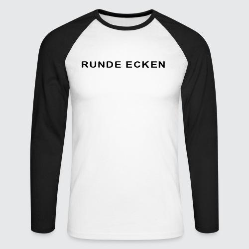 Runde Ecken - Männer Baseballshirt langarm