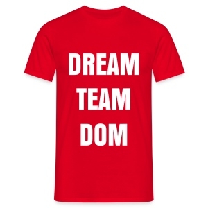 DREAM TEAM DOM SIMPLE T SHIRT ROUGE LOGO BLANC FLEX - T-shirt Homme