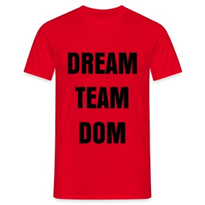 DREAM TEAM DOM SIMPLE T SHIRT ROUGE LOGO NOIR FLEX - T-shirt Homme