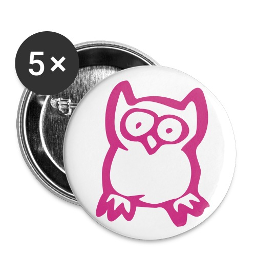 The owl badge x5 - Buttons small 25 mm