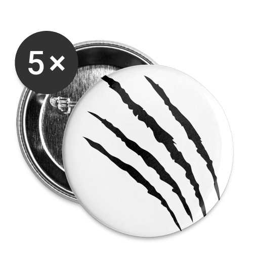 The scratched badge x5 - Buttons small 25 mm