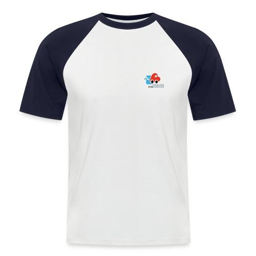 Tofarget baseballskjorte - Kortermet baseball skjorte for menn