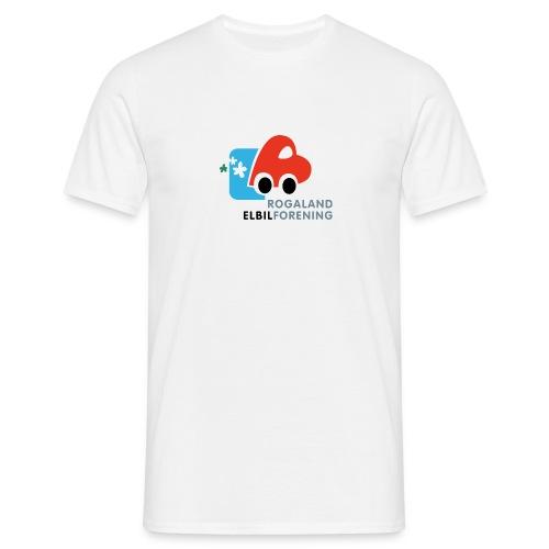T-skjorte med stor logo - T-skjorte for menn