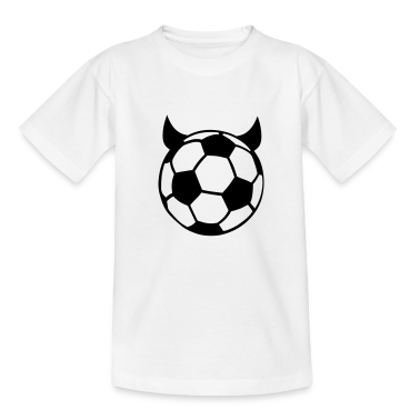 White Soccer Ball Devil Kids' Shirts